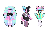 [extras] - Obscenebarbie [tiny pixel dolls] by hello-planet-chan