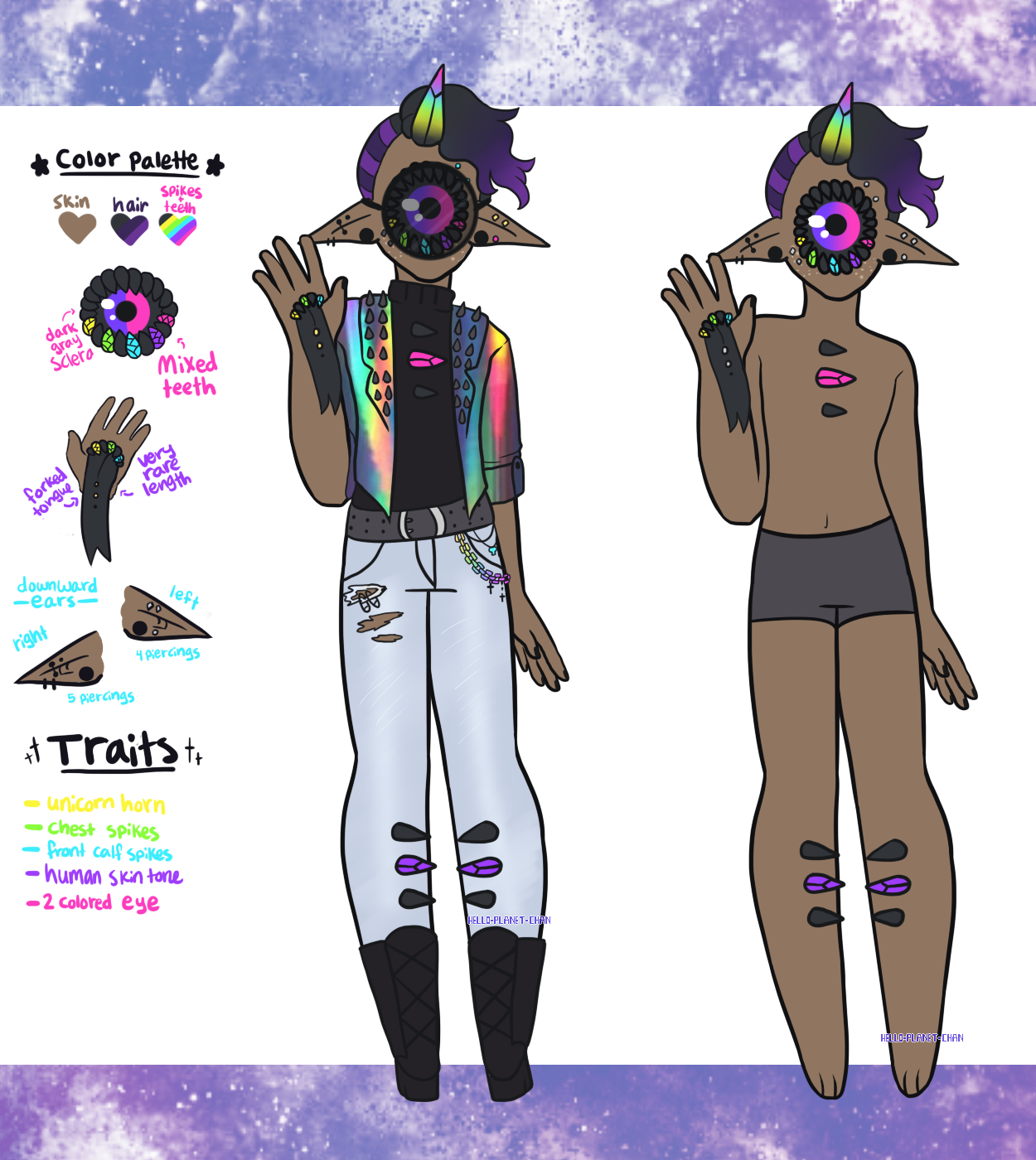 [Xynthii Adopt] - Rainbow Punk [CLOSED] by hello-planet-chan