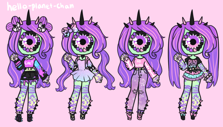 Outfit set - One by hello-planet-chan