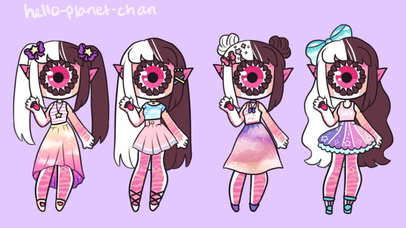 Outfit set - Pekoyama by hello-planet-chan