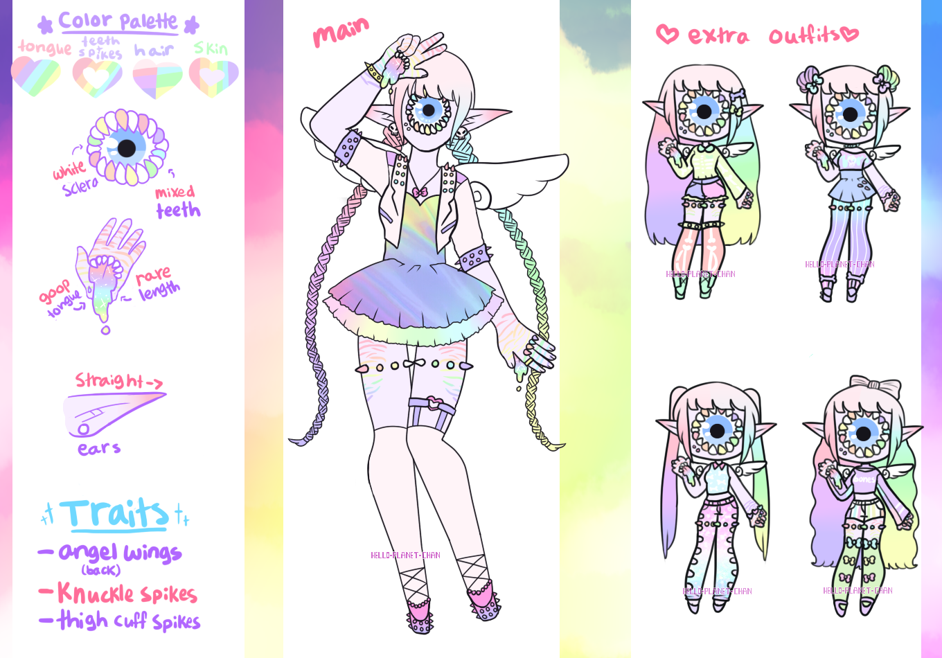 [Custom Xynthii] - cthonicsquid - rainbow girl by hello-planet-chan