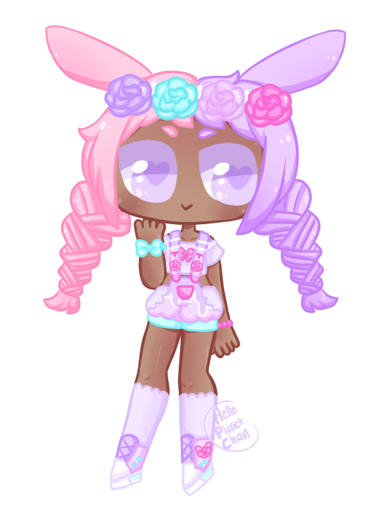 [Adopt extra] - Pink bunny by hello-planet-chan