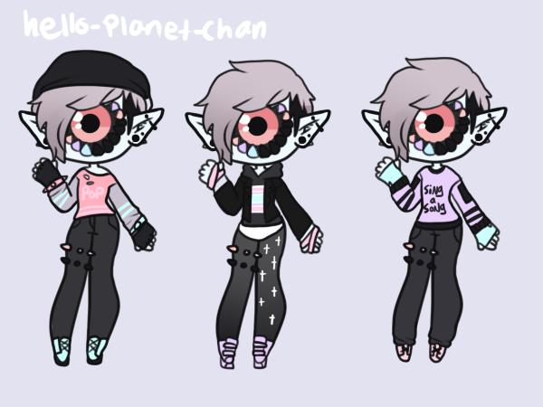 [outfit Set] - Cinnabunangel [1/2] by hello-planet-chan