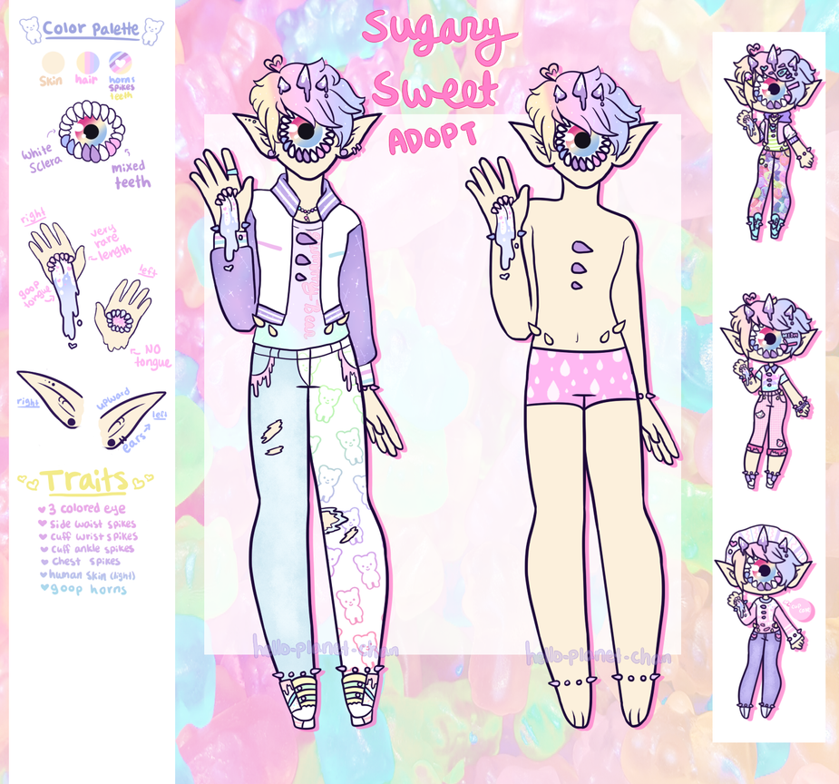 January Adopt - Sugary Sweet [CLOSED] by hello-planet-chan