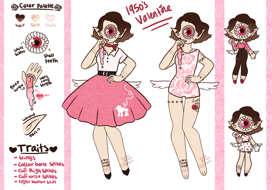 February Adopt - 1950s Valentine [CLOSED] by hello-planet-chan