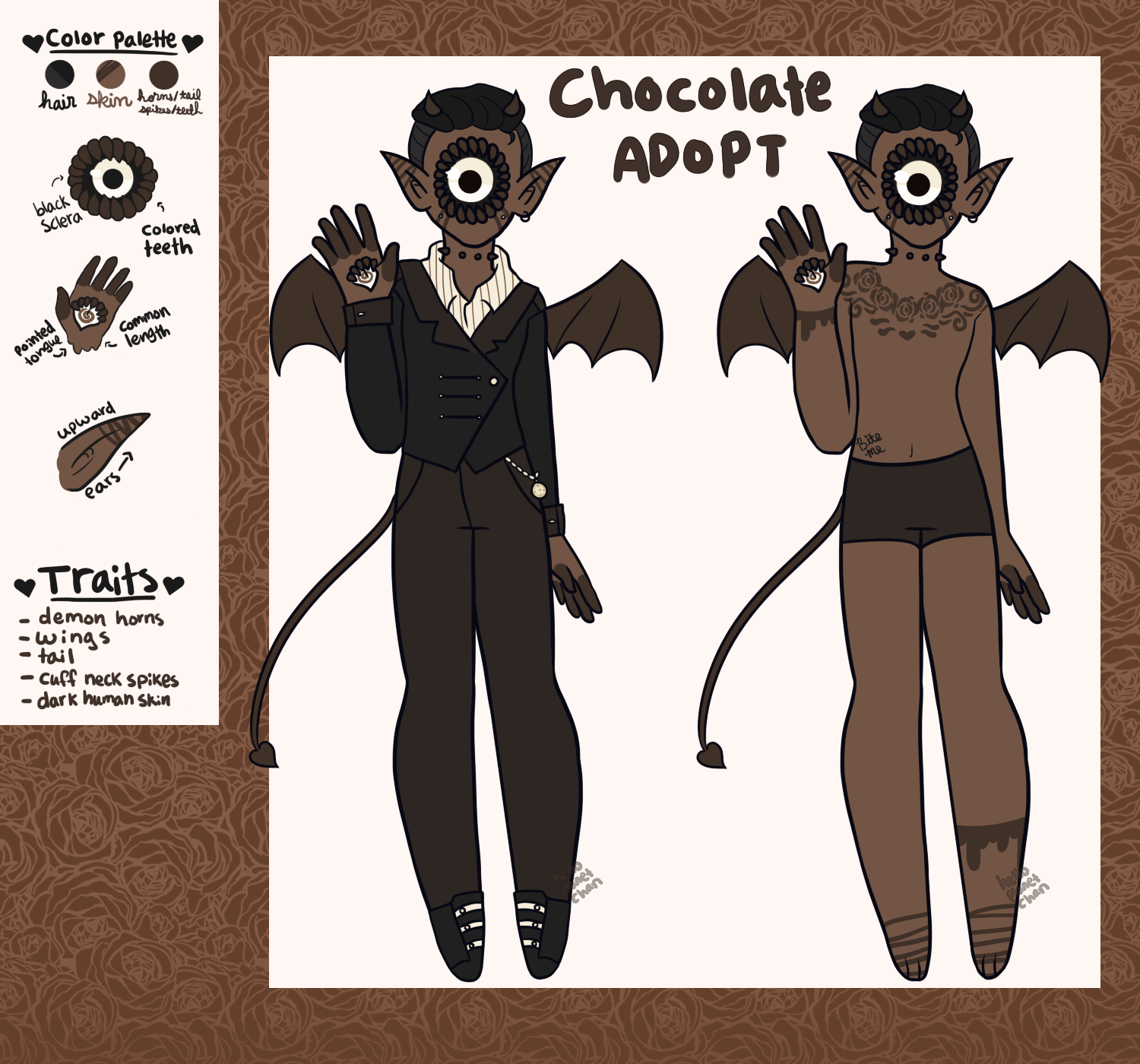 February Adopt - Chocolate [CLOSED] by hello-planet-chan