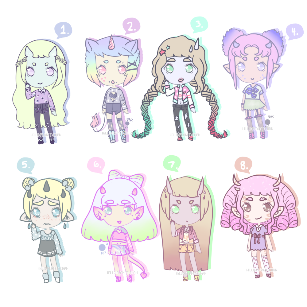 Pastel Monster Adopts [5/8 OPEN - PRICE LOWERED] by hello-planet-chan