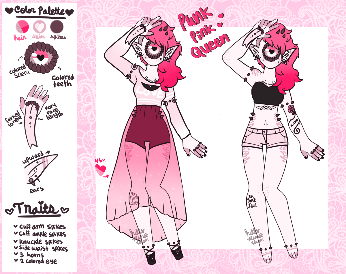 Punk Pink Queen Xynthii - [CLOSED] by hello-planet-chan