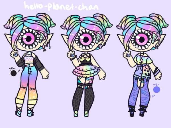 [outfit Set] - XenoBaby by hello-planet-chan