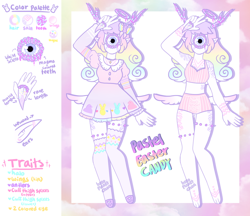 Pastel Easter Candy Xynthii [CLOSED] by hello-planet-chan