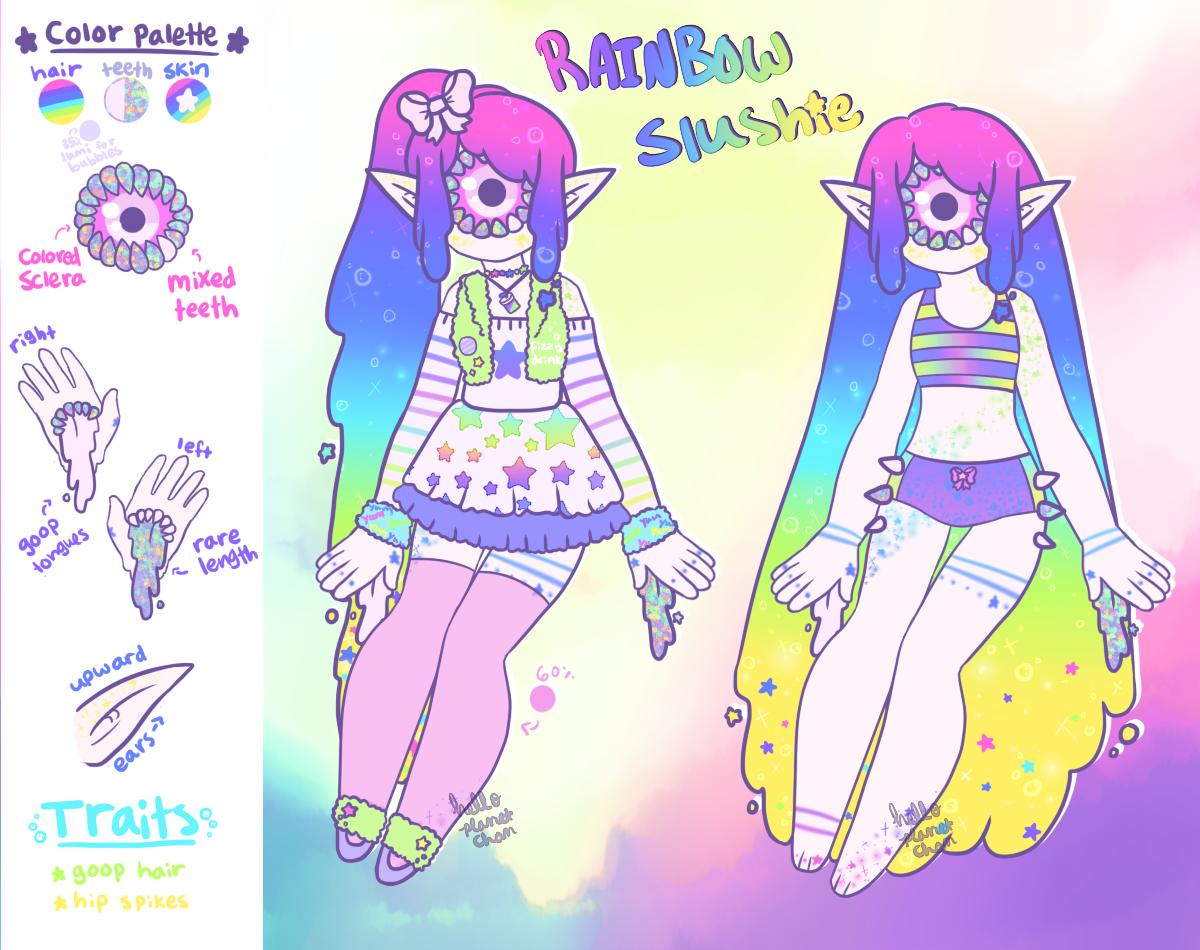 Rainbow Slushie Xynthii - [CLOSED] by hello-planet-chan
