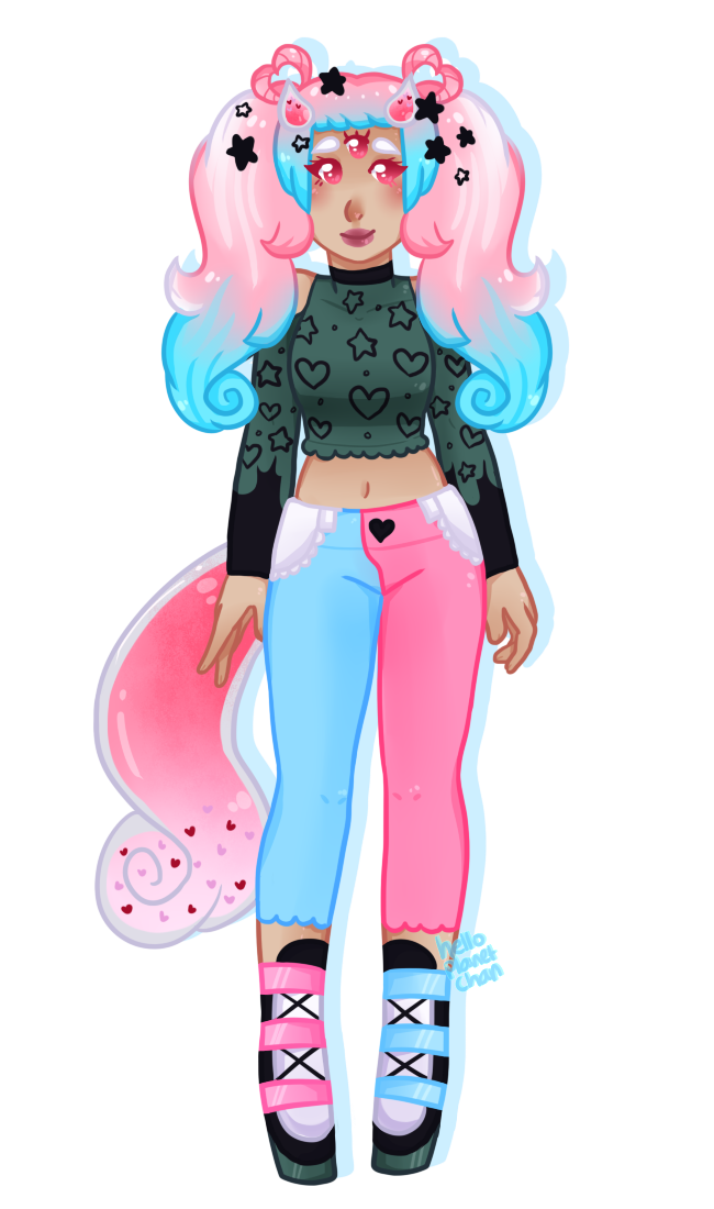 [fullbody] - cthonicsquid [2/3] by hello-planet-chan