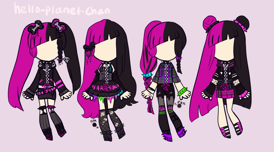 [outfit set] - cthonicsquid [5] by hello-planet-chan