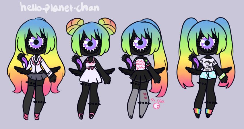 [outfit set] - BlackRavaen by hello-planet-chan