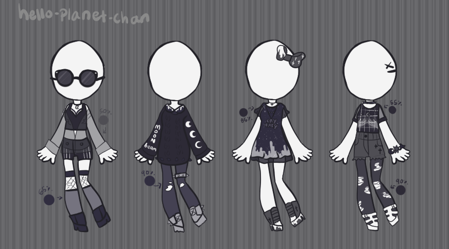 [outfit set] - cthonicsquid [12] by hello-planet-chan