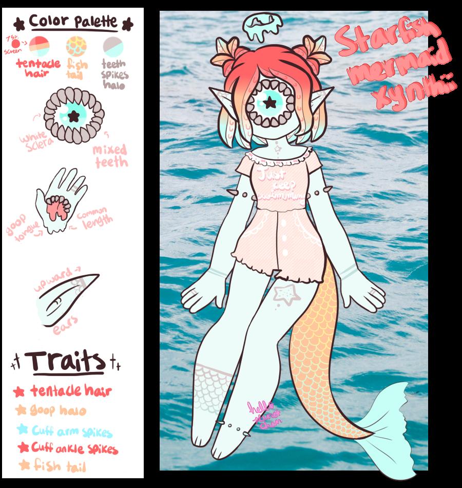 June Adopt - Starfish Mermaid [CLOSED] by hello-planet-chan