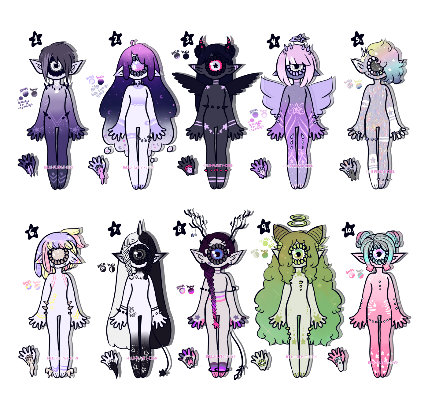 July adopts - Starry Xynthii [CLOSED] by hello-planet-chan