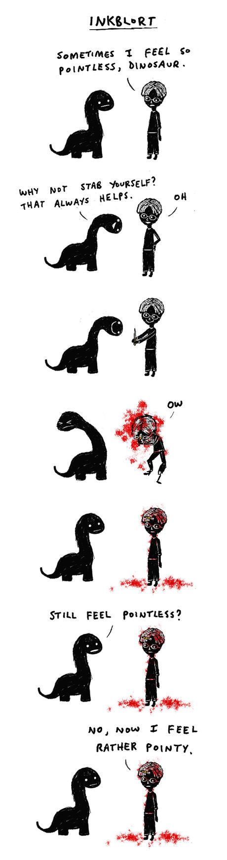 Dinosaur And Derek by inkblort