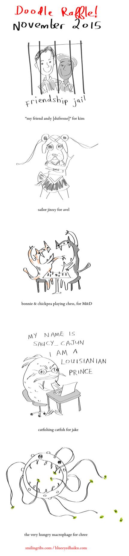 november 2015 doodle raffle by inkblort