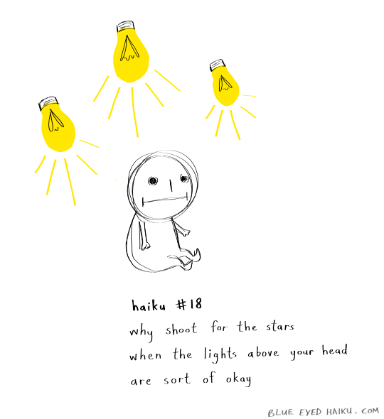 haiku 18 (lights) by inkblort