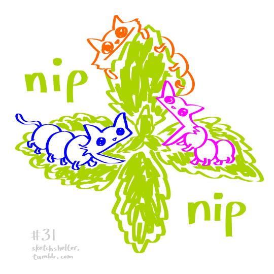 doodle request 31: CATerpillars by inkblort