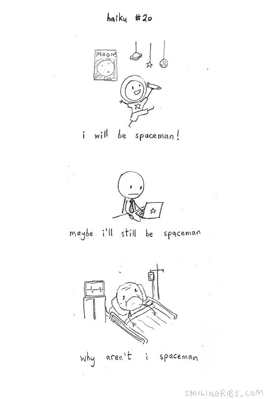 haiku 20 (spaceman) by inkblort