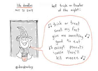 life doodles - oct 31 2019 - cool halloween kid