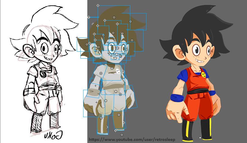 Goku Rigging Process by RetroSleep