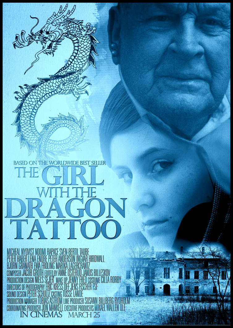 the girl with the dragon tattoo movie poster by dans