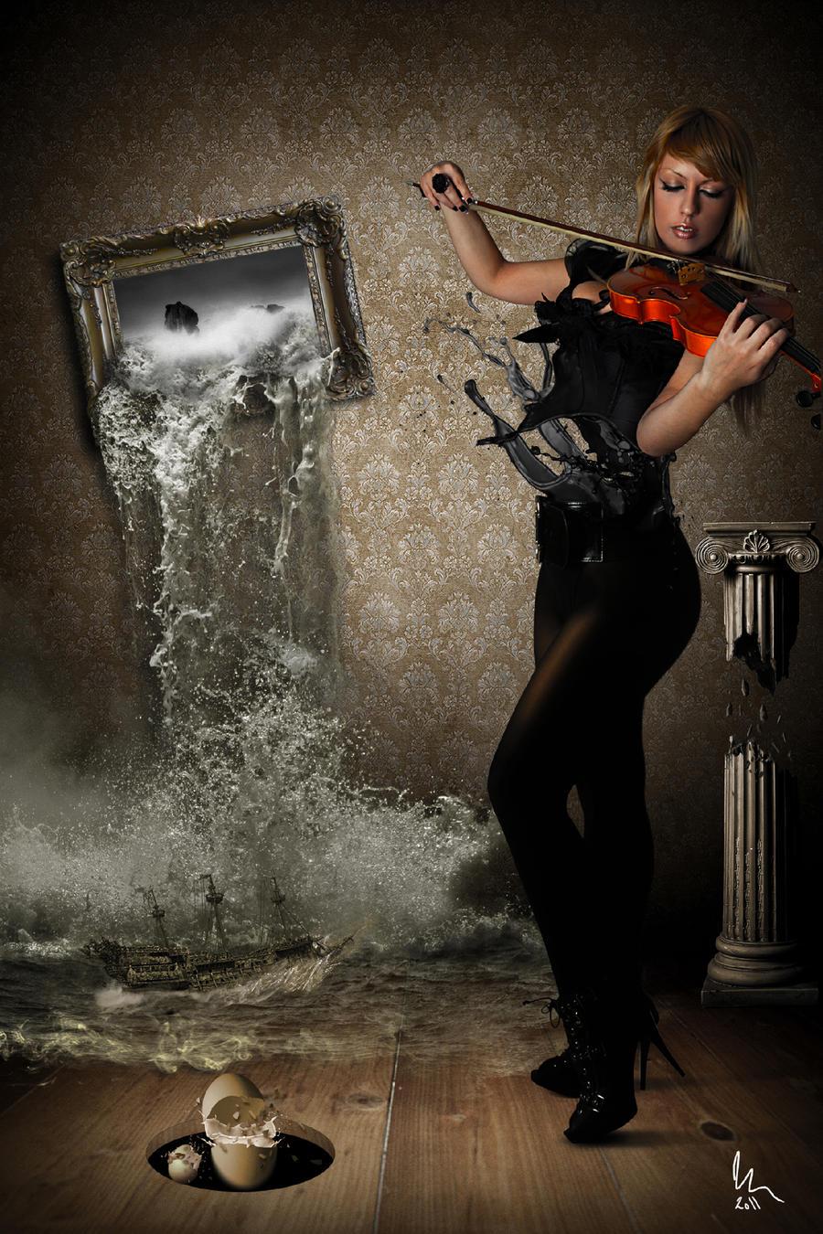 Black hole and Flying Dutchman by Replik4art