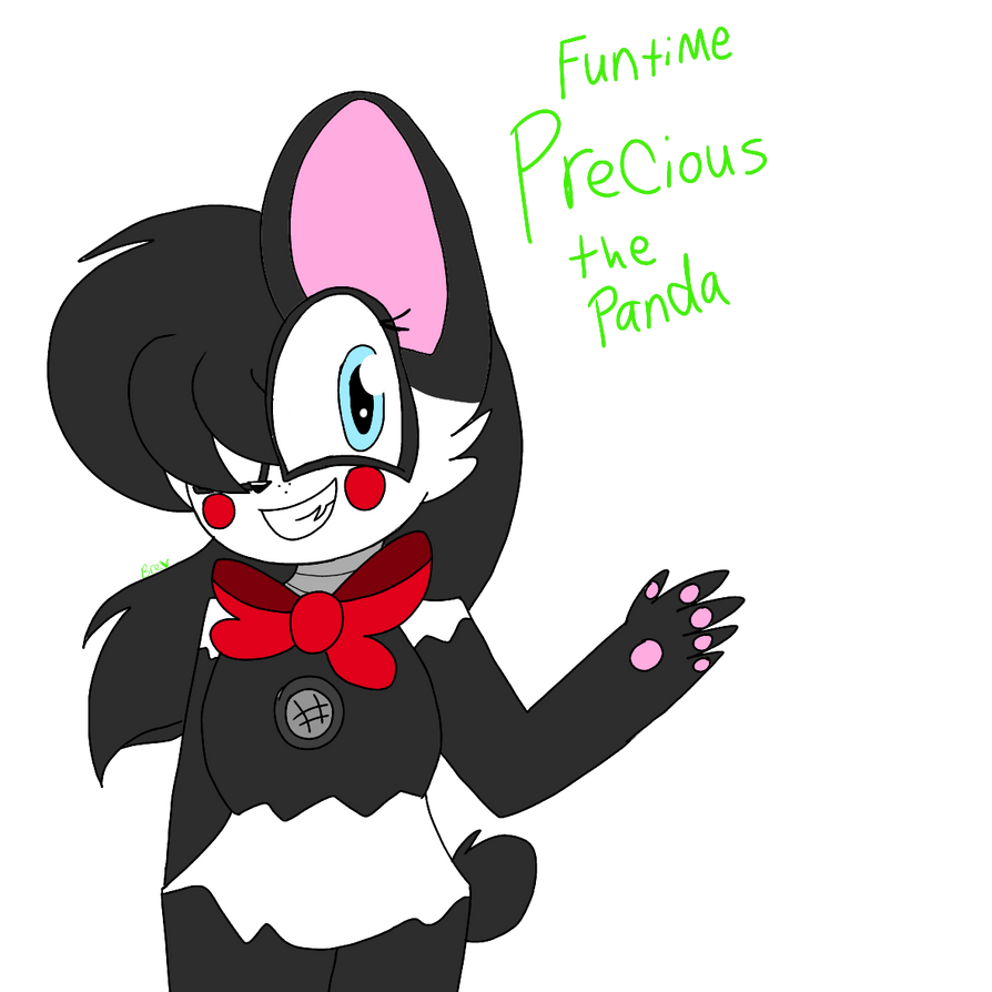 Funtime Precious the Panda (My Fnaf oc) by CircusPaparazzi5678