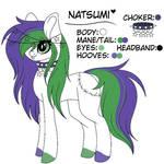 Natsumi (My new pony oc)
