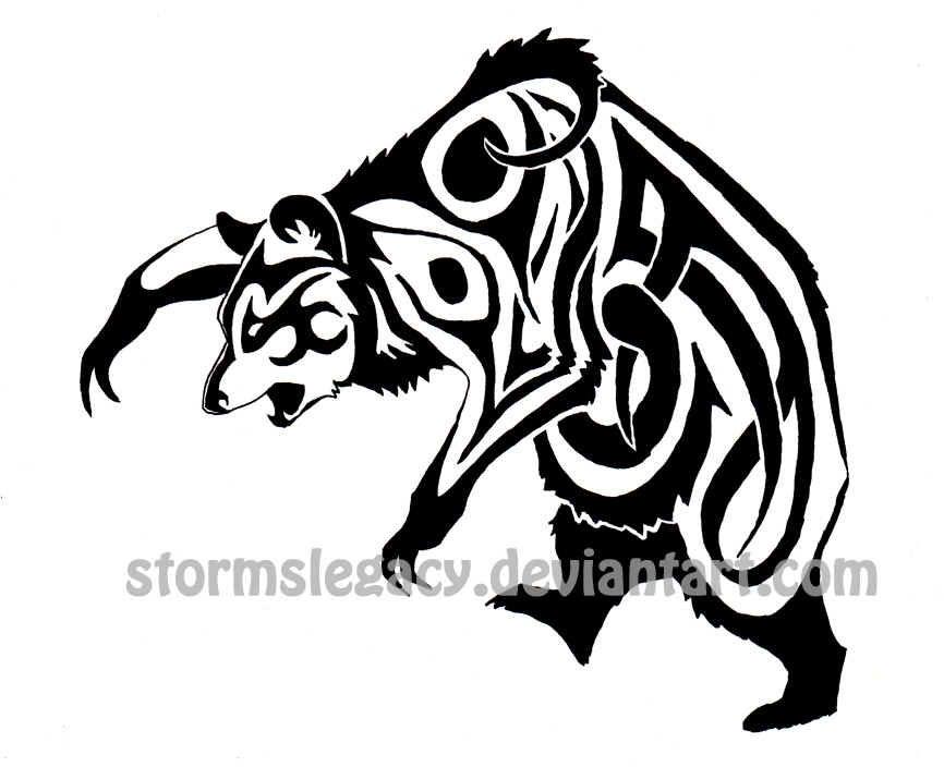 tribal bear tattoo by stormslegacy on deviantart. Black Bedroom Furniture Sets. Home Design Ideas