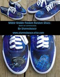 Wibbly Wobbly Fandom Random shoes by Stormslegacy