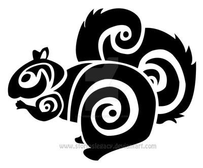 Squirrel Tribal by Stormslegacy