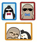 Slothy and Pengy 'Kool Kids' Portrait: BFF edition