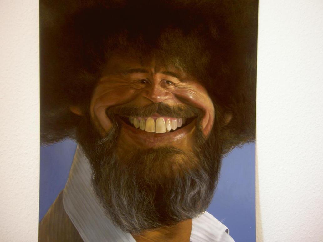 Bob Ross Face Paintings