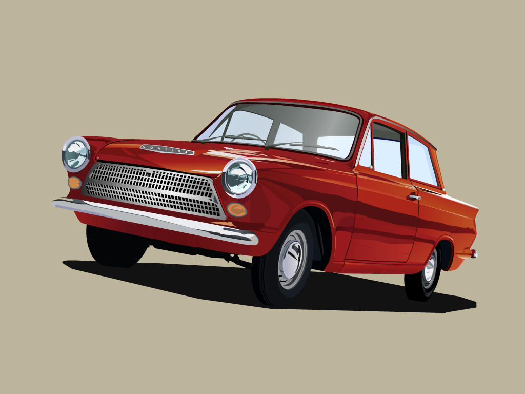 Ford Cortina by ~ahmednayyer