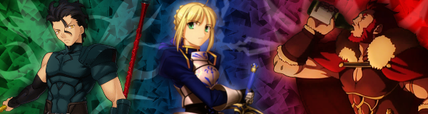 Fate/Zero - Signature - Saber, Rider and Lancer by H2-Flow