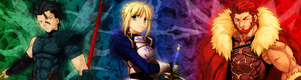 Fate Zero - Signature v2 - Saber, Rider and Lancer by H2-Flow