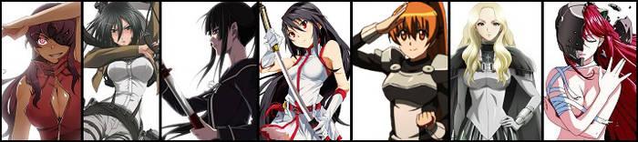 My fav anime girls by H2-Flow