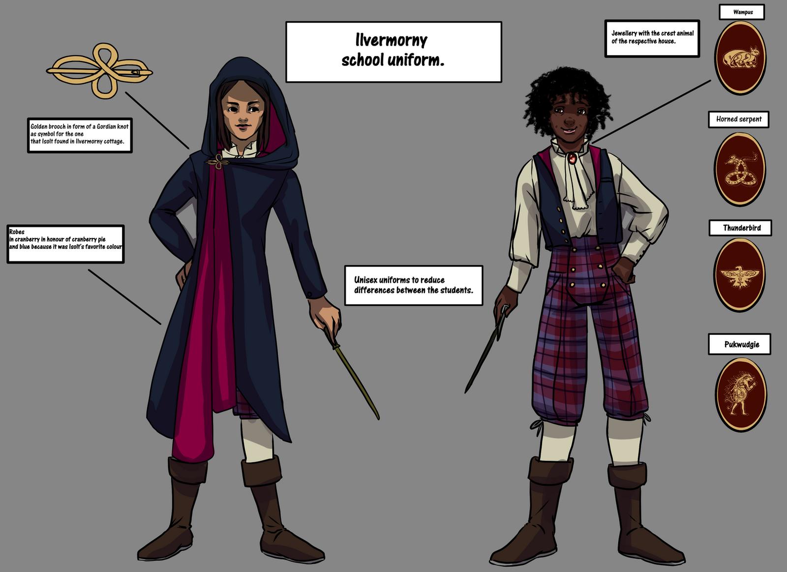 Ilvermorny School Uniform By Mathildasdoubel On Deviantart