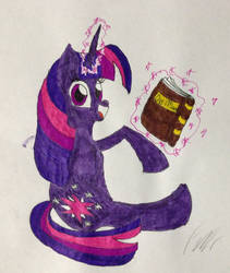 Reading with Twilight by Frollo7797