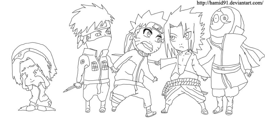 how to draw chibi sasuke