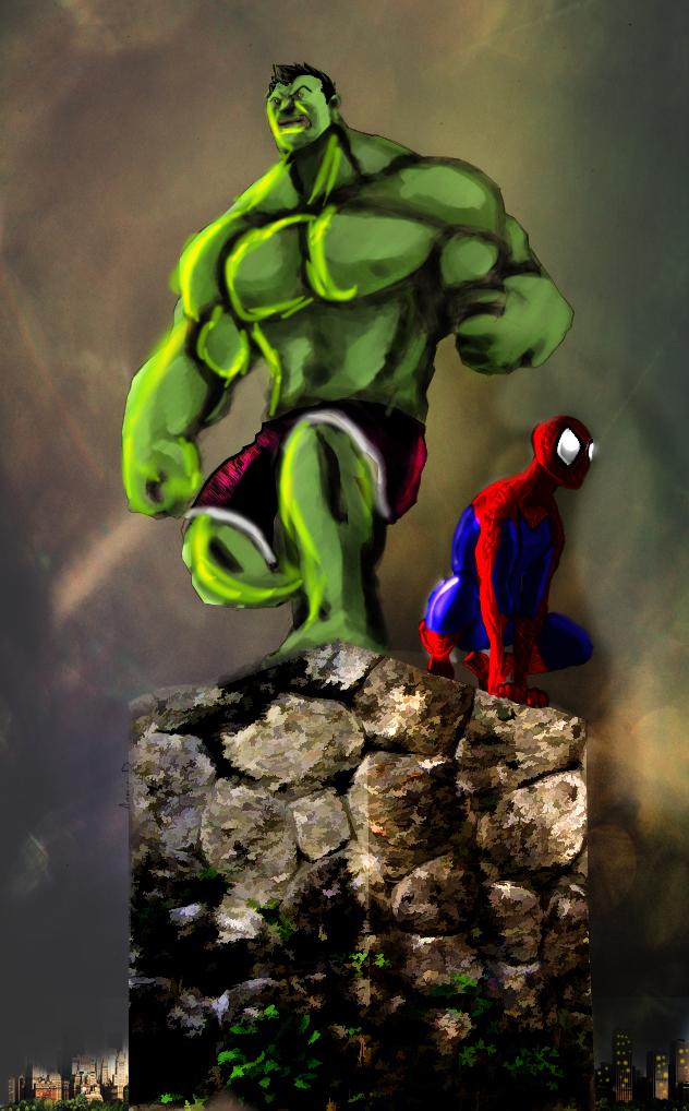 Hulk And Spidey by Hamid91