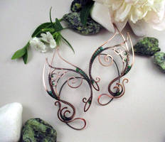 Pair of ear cuffs Guardian of the forests