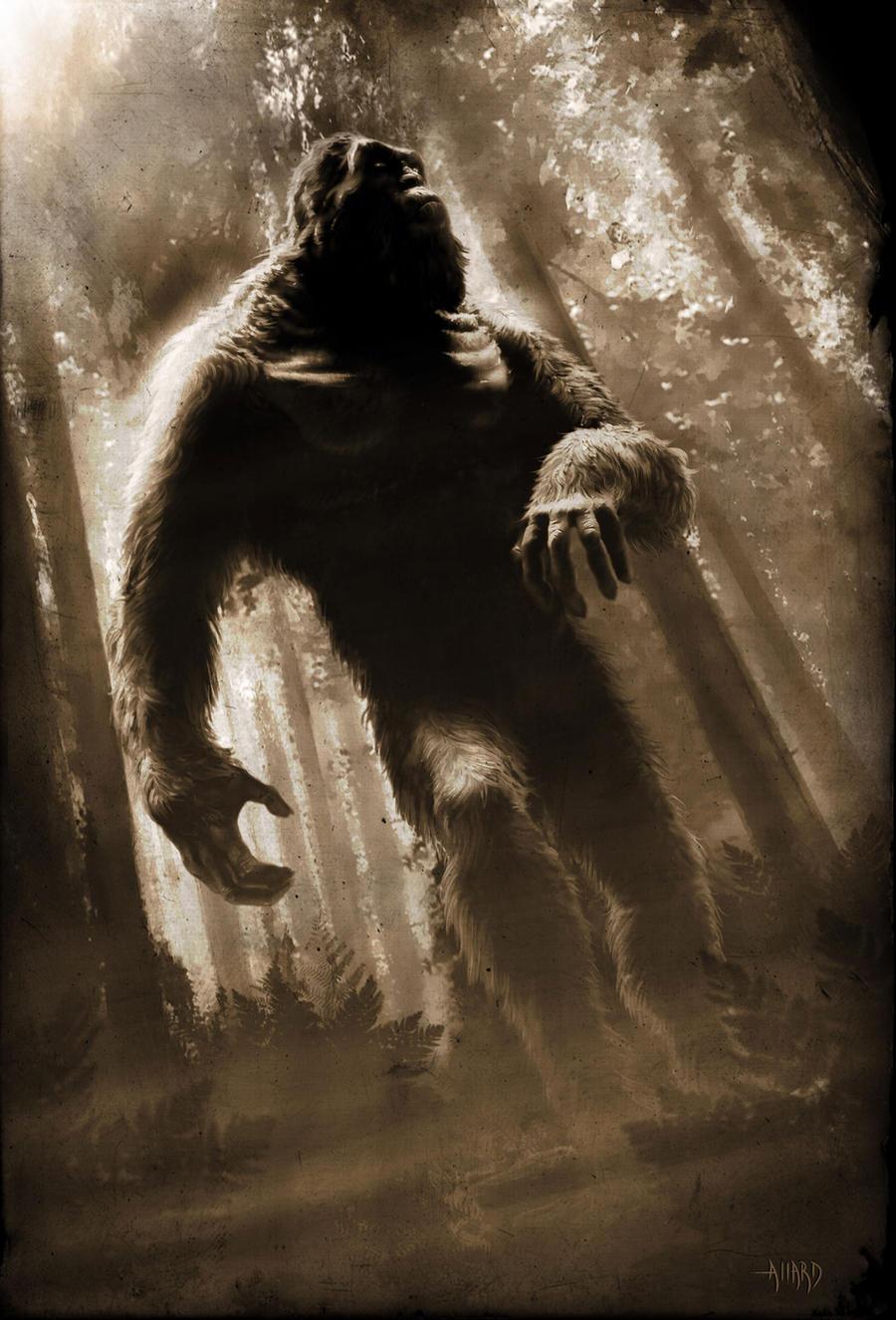 Bigfoot Print by JoeAllard