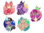 Soarling collab auction adopts! + OPEN + by mimikyu-ute