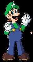 Luigi- Original art style by Laurence-L