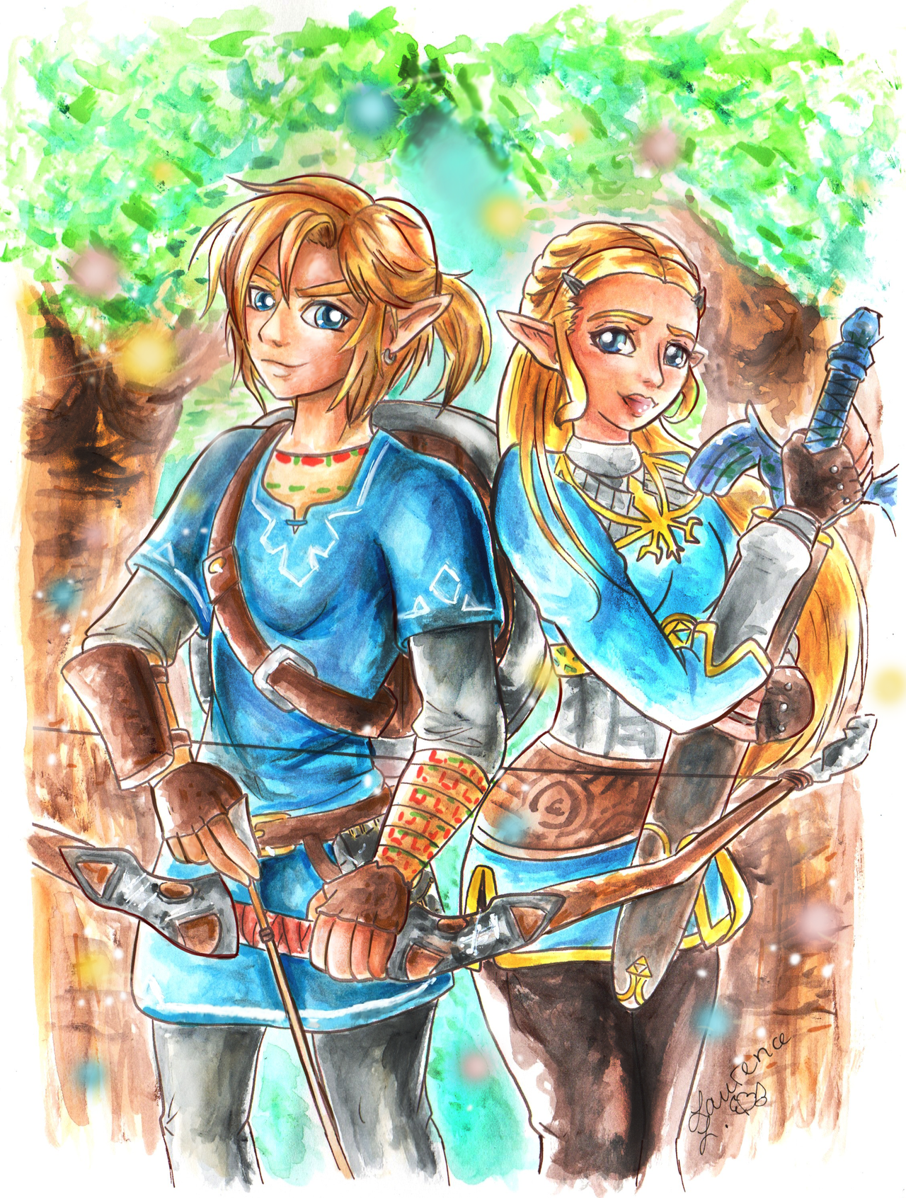 zelda breath of the wild manga how to draw link